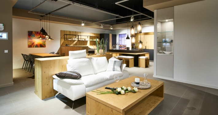 Bild zeigt Wohnbereich in einem modernen Apartment