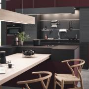 Küchenauswahl: Küche FIORA Rosso Jaipur/ ADINA Tina matt