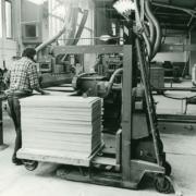 Sachsenküchen Werk schwarz/weiß-Aufnahme